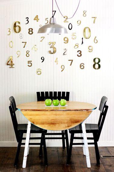 chiffres dorés décoratifs